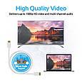Кабель Promate linkMate-H1L HDMI - HDMI 3 м White, фото 7