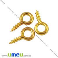 Винтовые штифты, Золото, 8х4 мм, 10 шт. (PIN-007269)