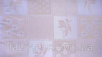 Лен скатертный беж-роз.  ш-150 см