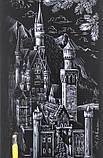 Гравюра панорама 'Замок в горах' Серебро (ГР-В2-02-07с), фото 3