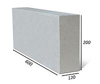 Газоблок Стоунлайт перегородочный высший сорт 120х200х600 D-500