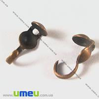 Каллоты с колечком, 9,0 мм, Медь, 20 шт. (ZAG-002010)