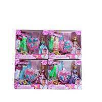 """Кукла типа """"Барби с одеждой в наборе, и аксесс, 3 вида микс, в кор. 21*18,5*4см /144-2/"""