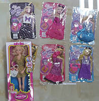 Одежда для кукол Барби, 6 видов, в п/э 21*14*1см /720-4/