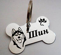 Жетоны Адресники Потеряшки для собак Медальон с лазерной гравировкой