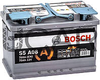 Bosch S5 A08 AGM 70 Ah 760 A аккумулятор (-+, R), 2018 год (0092S5A080)