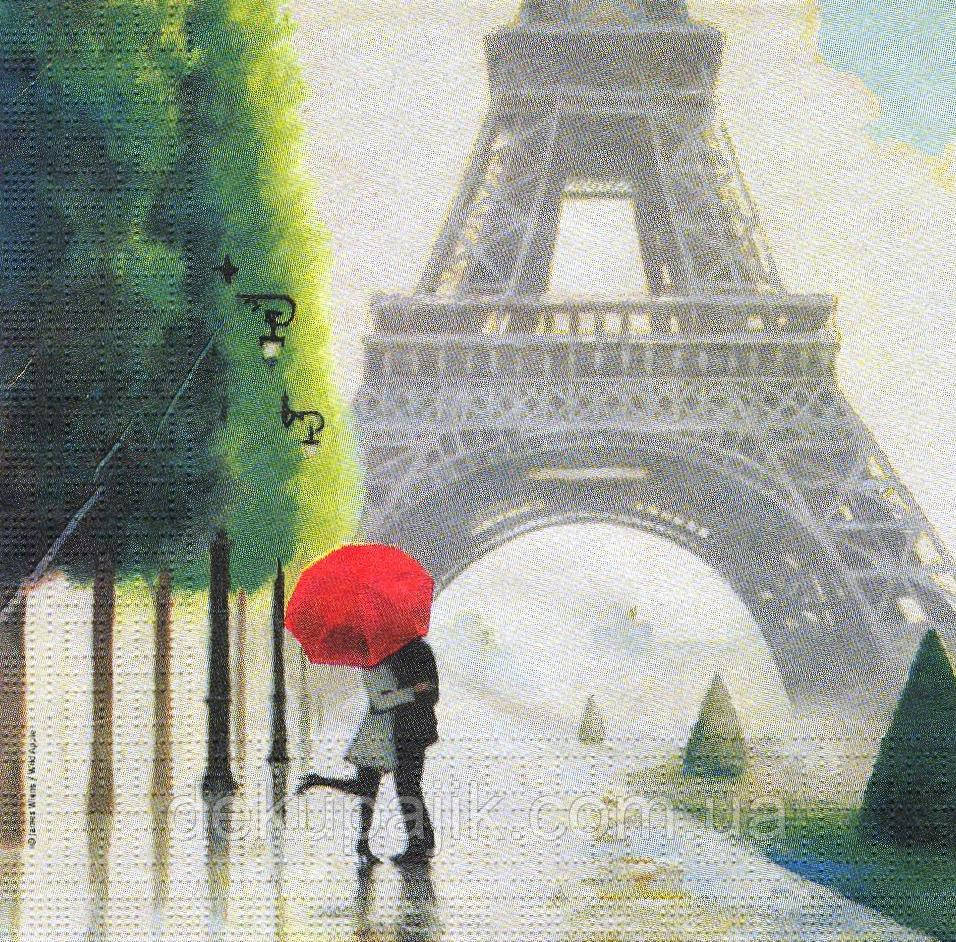 Рідкісна декупажна серветка Париж - місто кохання 3798