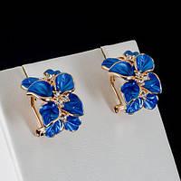Очаровательные серьги с кристаллами Swarovski, покрытые слоями золота 0401
