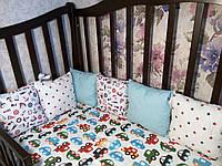 Бортики - подушки в кроватку(люлюку)