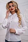 Стильная женская белая блузка, размеры 42 и 44, фото 2