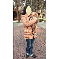 Демисезонная слингокуртка бежево-кофейная размер L. Бесплатная доставка.