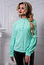 Стильная женская блузка мятного цвета, фото 2
