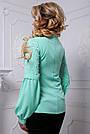 Стильная женская блузка мятного цвета, фото 4