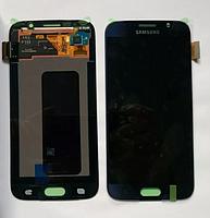 Дисплей Samsung G920 Galaxy S6 с сенсором Черный Black оригинал , GH97-17260A