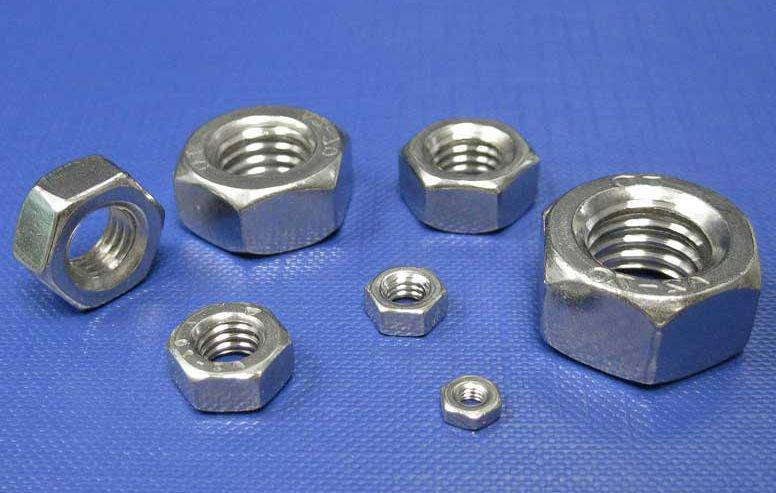 Гайка нержавеющая М1,4 DIN 934 (ГОСТ 5915-70, ГОСТ 5927-70) сталь А2 и А4