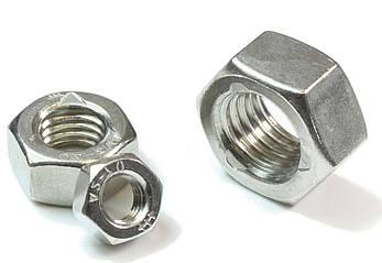 Гайка нержавеющая М1,4 DIN 934 (ГОСТ 5915-70, ГОСТ 5927-70) сталь А2 и А4, фото 2