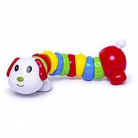 Погремушка Гибкий щенок (белый), BeBeLino, Белая голова (57115-2), фото 1