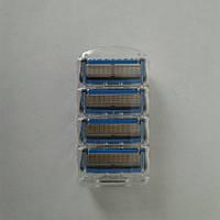 Кассеты Gillette Fusion Proshield 4 шт. ( Картриджи лезвия жиллетт Фюжин прошилд синие Оригинал ), фото 1