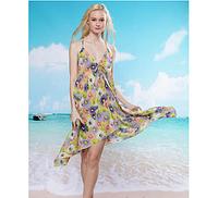 Платье пляжное Разноцветные ромашки