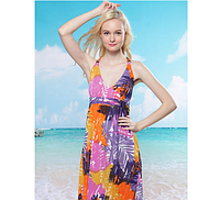 Платье пляжное Пальмовые листья