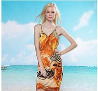 Пляжное платье-трансформер Нарцыссы