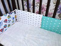 Защитные бортики подушки в кроватку