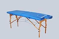 Стол массажный деревянный 2х секционный, кушетка, для наращивания ресниц, RELAX. топчан, фото 1