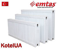 Стальной панельный радиатор Emtas тип 22 PKKP 300*1400 боковое подключение