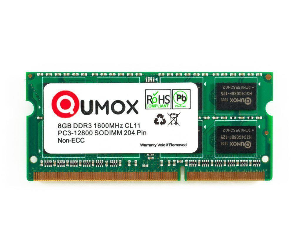 "Оперативная память QUMOX 8GB 1600MHz DDR3 PC3-12800 SODIMM ""Over-Stock"" Б/У"