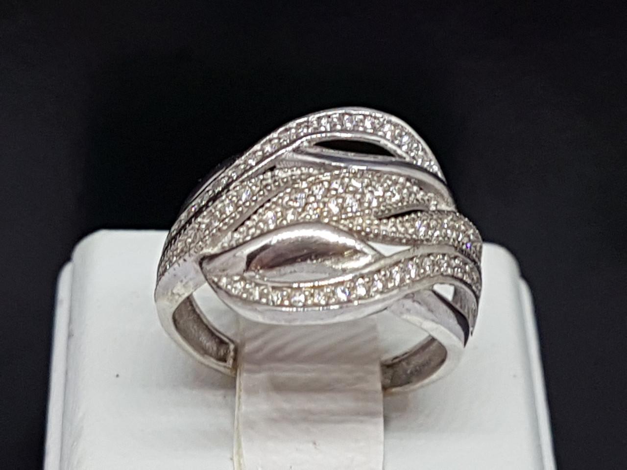 Серебряное кольцо с фианитами. Артикул КВ410с 17