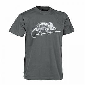 Мужская хлопковая футболка Helikon Chameleon Skeleton Shadow Grey XXL (TS-SKC-CO-35)