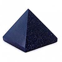 "Пирамида сувенир камень авантюрин ""Ночь Каира"" h-2,2-2,5см b-2,6-2,9см"