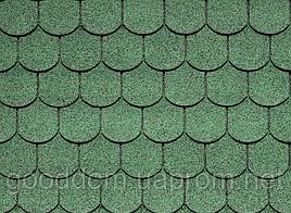 "Битумная черепица ""IKO"", Superglass Biber 03 (Amazon Green)"