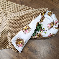 Кокон коричневый + плед + ортопедическая подушка, фото 1