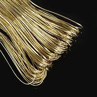 Шнур, полиуретановый, золотистый, размер 2х1 мм, длина 10  м. (1 шт) УТ10009817