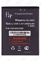 Аккумулятор Fly iq458q (BL3809) 2000mah (альтернатива)