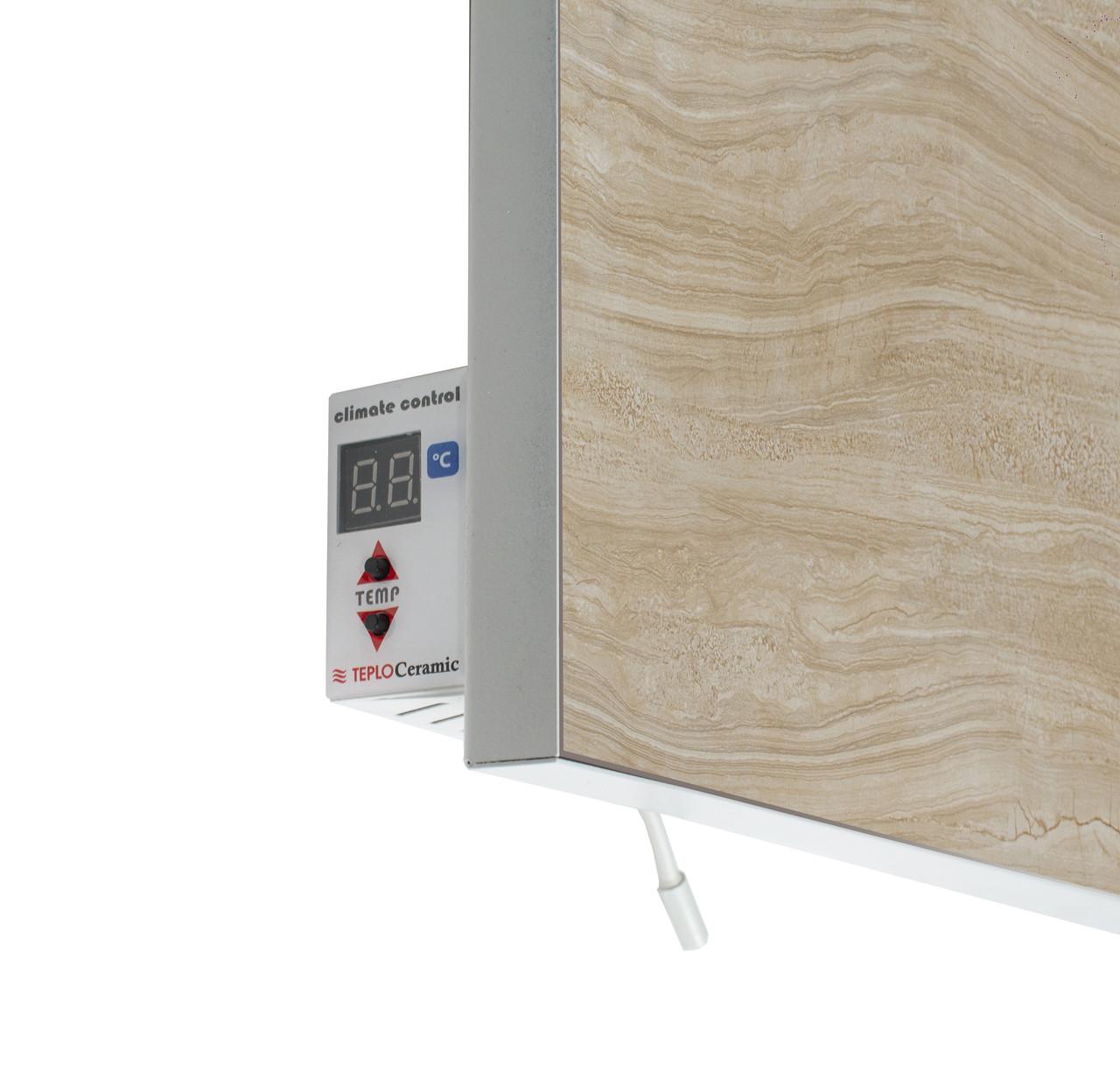 Керамічний інфрачервоний обігрівач з терморегулятором мармур 1000 Вт. 20 м. кв. TCM-RA 1000