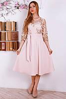 Роскошное праздничное платье с вышивкой р.48-52 Y324-2