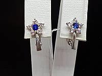 Серебряные серьги с фианитами. Артикул СВ265.02с, фото 1