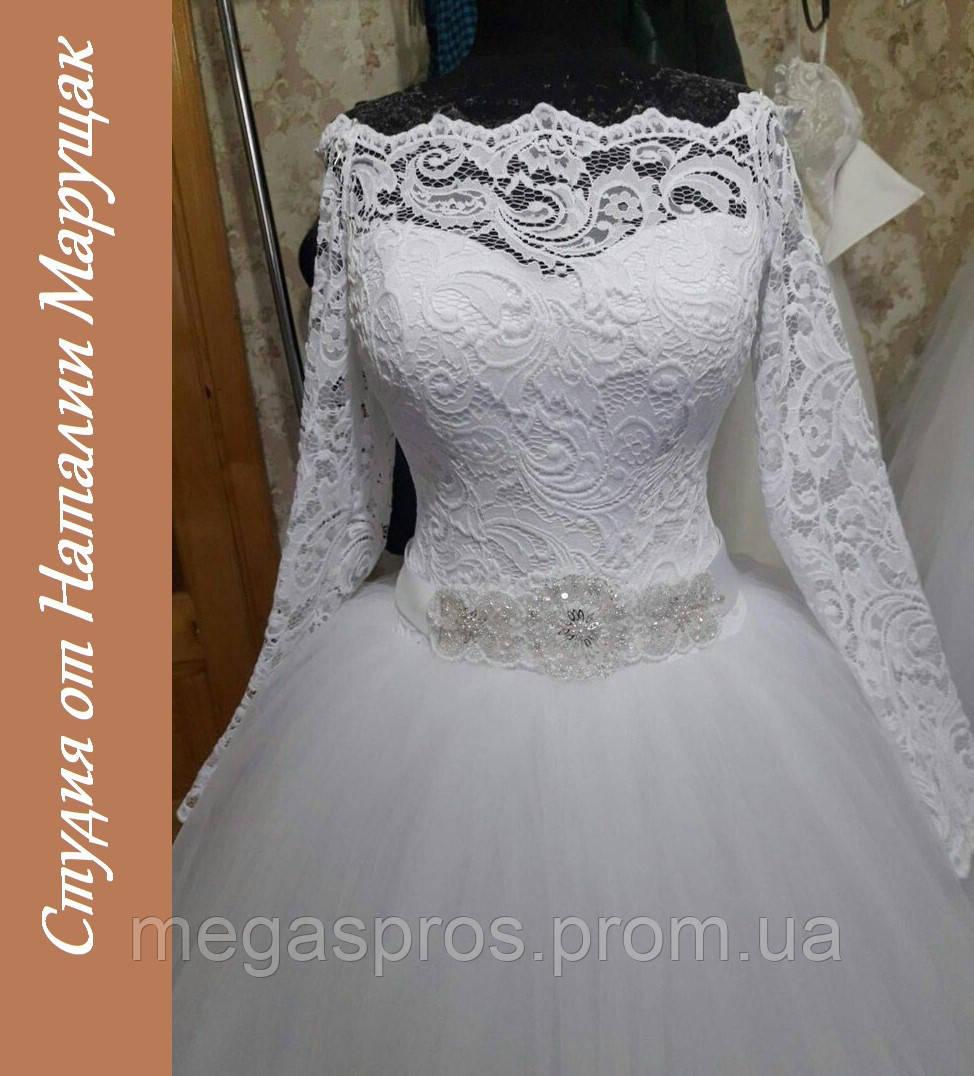 Свадебное платье с поясом ручной работы. Итальянское кружево ... b4df5b91e0a2c
