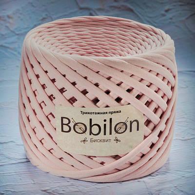 Трикотажная пряжа Bobilon Medium (7-9мм) Бисквит