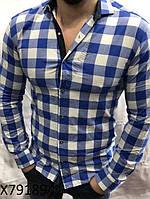 c72e6fb3aa8a9e2 Мужская рубашка в клетку(44-52)