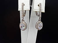 Серебряные серьги с фианитами. Артикул СВ602с, фото 1