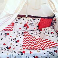 """Постельное в детскую кроватку — """"Микки"""", фото 1"""