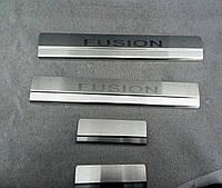 Накладки на пороги Ford Fusion 2002- 4шт. Standart