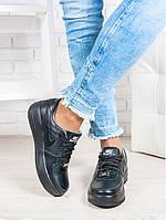 Кроссовки Nike Air  (реплика) черная кожа 6386-28