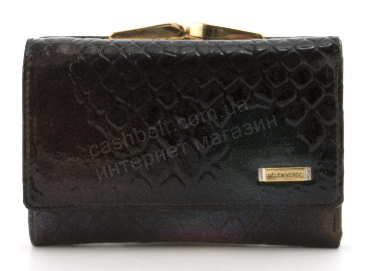 Маленький женский кожаный кошелек высокого качества Helen Verde art.HV-102A черный