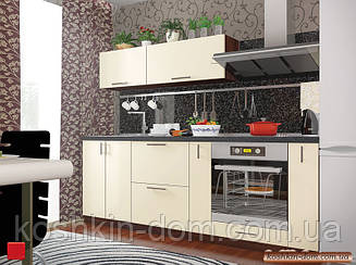 Кухня модульная Колор-mix белый 2200 мм MDF крашенный глянец