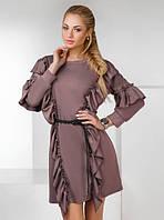 Платье женское короткое с воланами P8559, фото 1