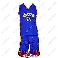 Баскетбольная форма подростковая Лос-Анджелес Лейкерс синяя